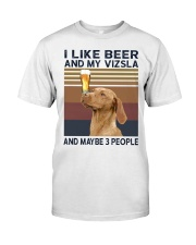 Beer and Vizsla hp Classic T-Shirt front