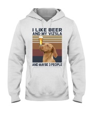 Beer and Vizsla hp Hooded Sweatshirt thumbnail