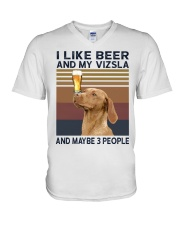 Beer and Vizsla hp V-Neck T-Shirt thumbnail