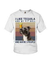 Tequila and Pit Bull Youth T-Shirt thumbnail