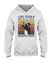 Tequila and Pit Bull Hooded Sweatshirt thumbnail