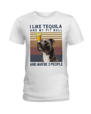 Tequila and Pit Bull Ladies T-Shirt thumbnail