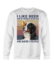 I like beer and my bernese mountain Crewneck Sweatshirt thumbnail