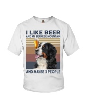 I like beer and my bernese mountain Youth T-Shirt thumbnail