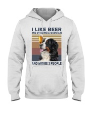 I like beer and my bernese mountain Hooded Sweatshirt thumbnail