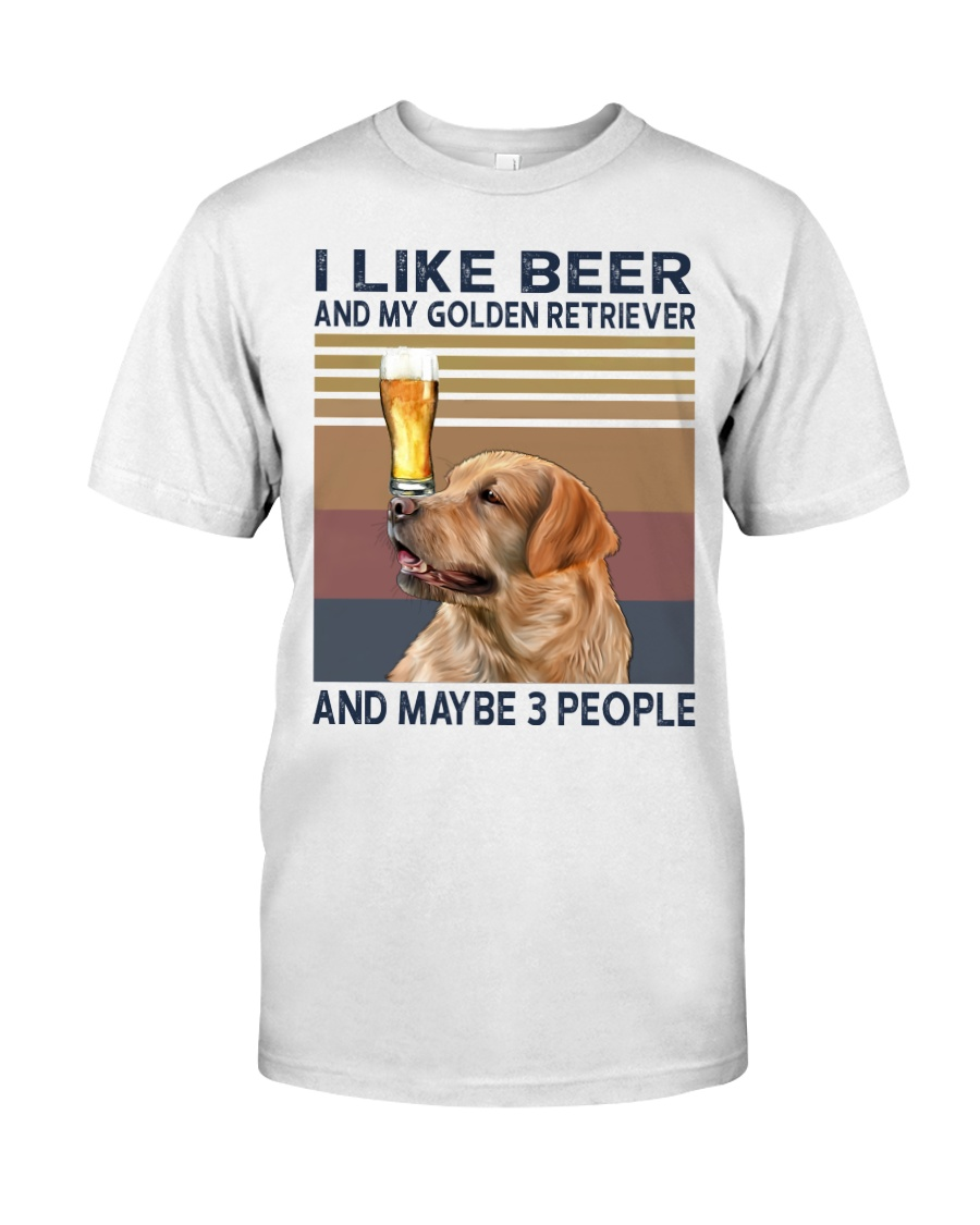 Beer and Golden Retriever Classic T-Shirt