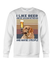 Beer and Golden Retriever Crewneck Sweatshirt thumbnail