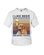 Beer and Golden Retriever Youth T-Shirt thumbnail