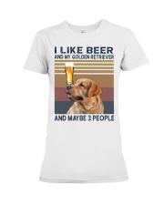 Beer and Golden Retriever Premium Fit Ladies Tee thumbnail