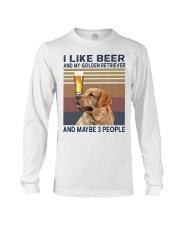 Beer and Golden Retriever Long Sleeve Tee thumbnail