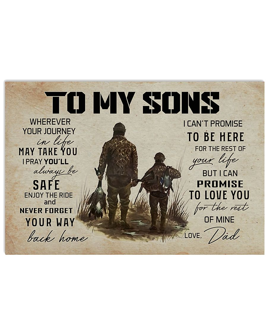 5 HUNTING TO MY SONS 17x11 Poster