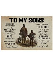 5 HUNTING TO MY SONS 17x11 Poster front