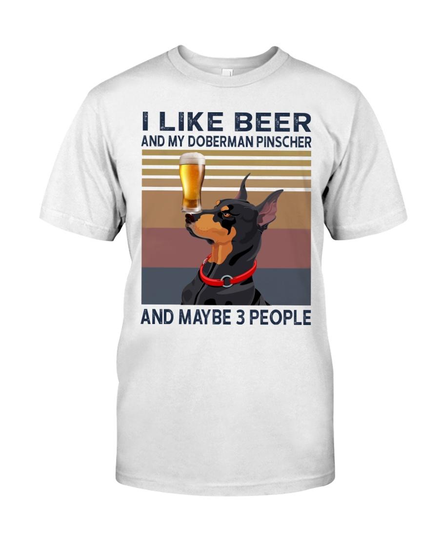 Beer and Doberman Pinscher Classic T-Shirt
