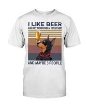Beer and Doberman Pinscher Classic T-Shirt front