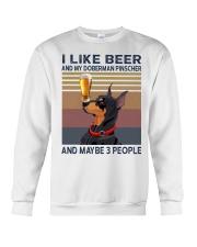 Beer and Doberman Pinscher Crewneck Sweatshirt thumbnail