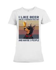 Beer and Doberman Pinscher Premium Fit Ladies Tee thumbnail