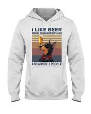 Beer and Doberman Pinscher Hooded Sweatshirt thumbnail