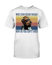 Dachshund Mike Echo Classic T-Shirt front
