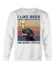 beer and Black Labrador Crewneck Sweatshirt thumbnail