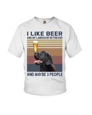 beer and Black Labrador Youth T-Shirt thumbnail