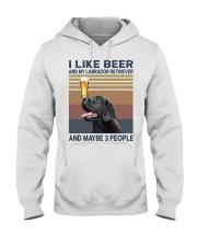 beer and Black Labrador Hooded Sweatshirt thumbnail