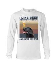 beer and Black Labrador Long Sleeve Tee thumbnail