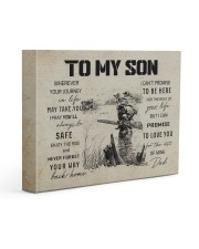 21A HUNTING-TO MY SON 14x11 Gallery Wrapped Canvas Prints front