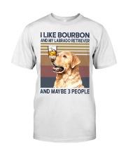 Bourbon and Labrado Retriever Classic T-Shirt front