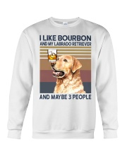 Bourbon and Labrado Retriever Crewneck Sweatshirt thumbnail