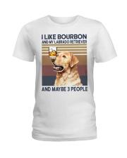 Bourbon and Labrado Retriever Ladies T-Shirt thumbnail
