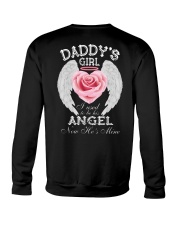 Daddy's Girl Angel Black Crewneck Sweatshirt thumbnail