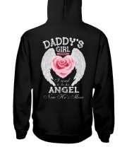 Daddy's Girl Angel Black Hooded Sweatshirt thumbnail