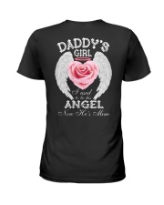 Daddy's Girl Angel Black Ladies T-Shirt thumbnail