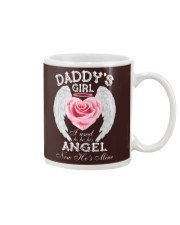 Daddy's Girl Angel Black Mug thumbnail