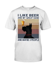 Beer and Great Dane Classic T-Shirt front
