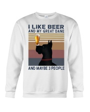 Beer and Great Dane Crewneck Sweatshirt thumbnail