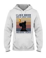 Beer and Great Dane Hooded Sweatshirt thumbnail