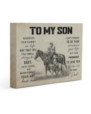 11 HORSE TO MY SON 14x11 Gallery Wrapped Canvas Prints front
