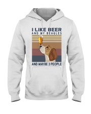 Beer and Beagles Hooded Sweatshirt thumbnail