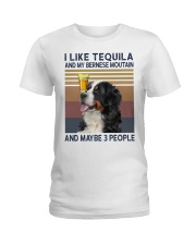 Tequila and bernese moutain Ladies T-Shirt thumbnail