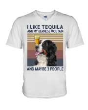 Tequila and bernese moutain V-Neck T-Shirt thumbnail