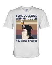 Bourbon and Collie V-Neck T-Shirt thumbnail