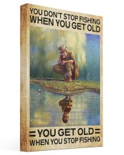 FISHING - DON'T GET OLD 16x24 Gallery Wrapped Canvas Prints front