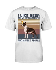 beer and Boston Terriers hp Classic T-Shirt front