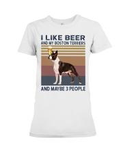 beer and Boston Terriers hp Premium Fit Ladies Tee thumbnail