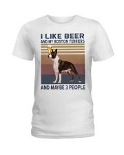 beer and Boston Terriers hp Ladies T-Shirt thumbnail