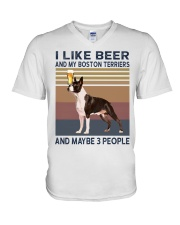 beer and Boston Terriers hp V-Neck T-Shirt thumbnail