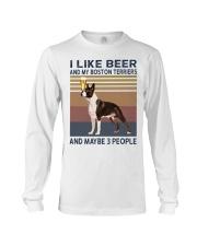 beer and Boston Terriers hp Long Sleeve Tee thumbnail