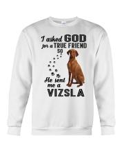 Vizsla Asked God Crewneck Sweatshirt thumbnail