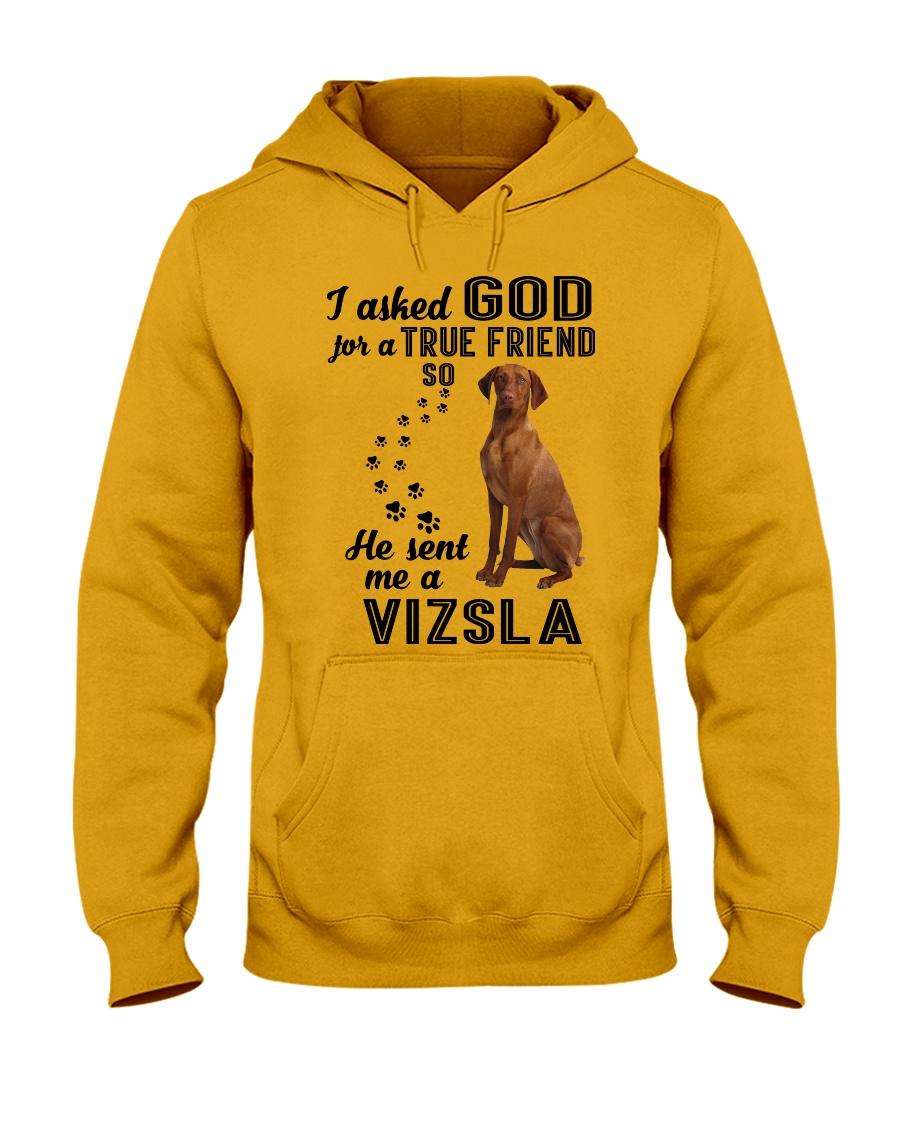 Vizsla Asked God Hooded Sweatshirt